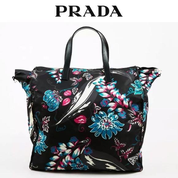 ff59d8f63dbb Prada Floral Nylon Tessuto Tote Shoulder Bag. M_5cc10a478557af52dd8df83c